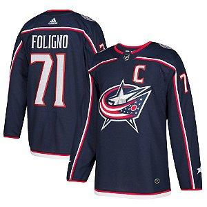Camisa Jersey Nhl Columbus Blue Jacket 2 Hockey #71 Foligno