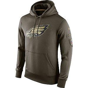 Casaco Moletom NFL Philadelphia Eagles Salute to Service Futebol Americano