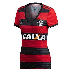 Camisa Feminina Flamengo Home 2018/2019 Personalização e Frete Grátis