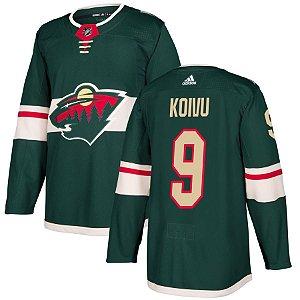 Camisa Jersey Nhl Minnesota Wild 1 Hockey #9 Koivu