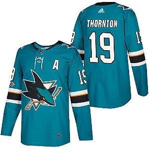 Camisa Nhl San Jose Sharks 2 Hockey #19 Thornton