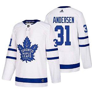 Camisa Nhl Jersey Toronto Maple Leafs 1 Hockey #31 Andersen
