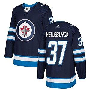 Camisa Nhl Jersey Winnipeg Jets Hockey #37 Hellebuyck