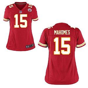 Camisa Nfl Kansas City Chiefs Futebol Americano  15 Mahomes - Sport ... c7bd3137b06