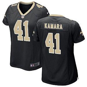 Camisa Nfl Feminina Futebol Americano New Orleans Saints #41 Kamara