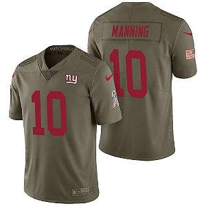 Camisa Nfl Futebol Americano New York Giants Salute To Service#10 Manning