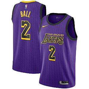Camisa Regata Nba Basquete Los Angeles Lakers #2 Ball