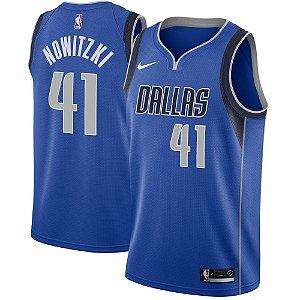 Camisa Regata Nba Basquete Dallas Mavericks #41 Nowitzki
