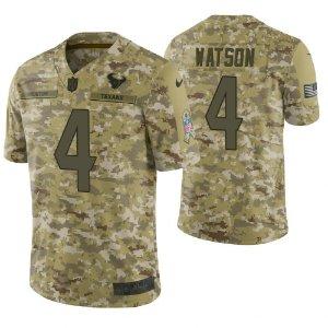 Camisa NFL Houston Texans Futebol Americano Salute To Service #4 Watson