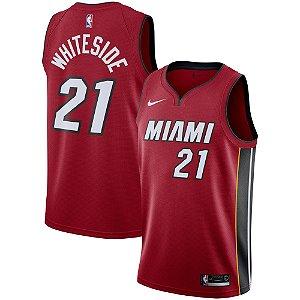 Camisa Regata Nba  Basquete Miami Heat #21 Whiteside