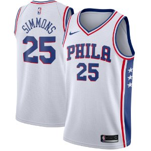 Camisa Regata Basquete Nba Philadelphia 76ers #25 Simmons