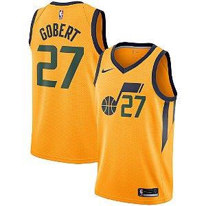 Camisa Regata Basquete Nba Utah Jazz #27 Rudy Gobert