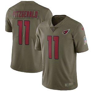 Camisa NFL Arizona Cardinals Futebol Americano Salute To Service #11 Fitzgerald