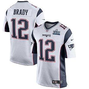 Camisa Nfl Futebol Americano New England Patriots Super Bowl LIII #12 Brady