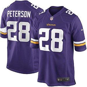 Camisa Minnesota Vikings Nfl Futebol Americano #28 Peterson