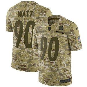 Camisa Nfl Futebol Americano Pittsburgh Steelers Salute To Service # 90 T.J Watt