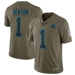Camisa NFL Carolina Panthers Futebol Americano Salute To Sevice #1 Newton