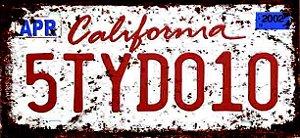 Placa Decorativa California 15x30