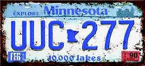 Placa Decorativa Minnesota 15x30