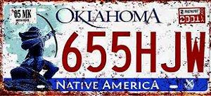 Placa Decorativa Oklahoma 15x30
