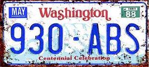 Placa Decorativa Washington 15x30