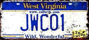 Placa Decorativa West Virginia 15x30