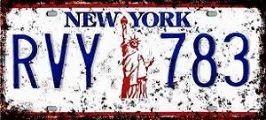 Placa Decorativa New York 15x30