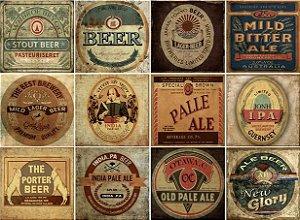 Placa Decorativa Cerveja 20x20 12 Peças