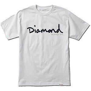 CAMISETA DIAMOND SUPPLY OG SCRIPT TEE - WHITE