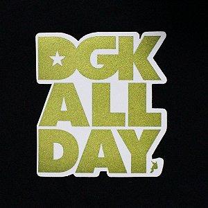 ADESIVO STICKERS DGK DGK ALL DAY SKATEBOARDING - GOLD
