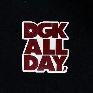 ADESIVO STICKERS DGK DGK ALL DAY SKATEBOARDING - RED