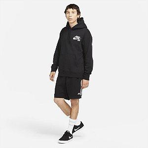 Shorts Nike SB Moletom Fleence - Preto