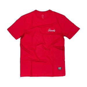 CAMISETA GRIZZLY CURSIVE EMBROIDERY TEE - RED