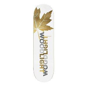 "SHAPE WOOD LIGHT HARD MAPLE PREMIUM LEAVES GOLD 8.25"" + LIXA EMBORRACHADA GRÁTIS"