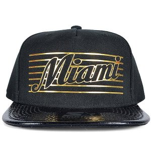 Boné Starter City Miami Aba Reta Snapback Preto 713b586b295
