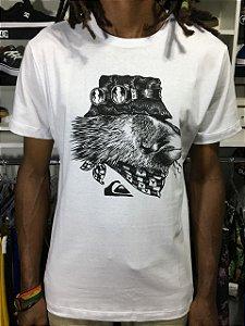 Camiseta Quiksilver SLIM FIT  THE KING - Branca