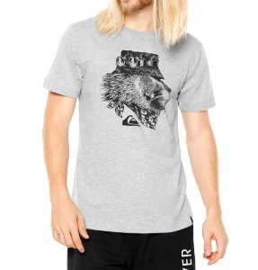 Camiseta Quiksilver SLIM FIT  THE KING - Cinza/Mescla