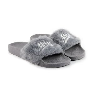 CHINELO MISSY SLIDE - CINZA FLUFFY