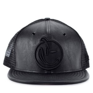 Boné New Era 9fifty Strapback Yums Black Leather Preto Ymv15 93c7029f5ee