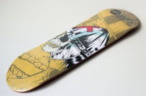 "SHAPE ASPECTO DECKS SERIE WAR YELLOW 8.0"" - heat transfer"