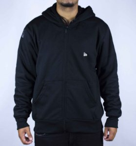 MOLETOM NEW ERA LOGO ULTRA FLEECE - PRETO