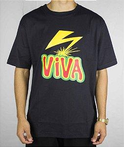 Camiseta Viva skate RAIO - Preta