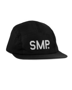 BONÉ SIMPLE 5 PANEL TELA - PRETO
