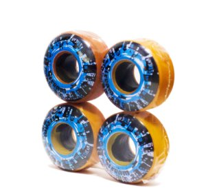 RODA STREAM SKATEBOARD LOGO BLUE ORANGE