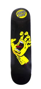 "SHAPES SANTA CRUZ SCREAMING HAND BLACK/YELLOW 8.25"" + LIXA"