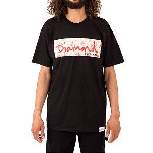 CAMISETA DIAMOND FLAMINGO BOX - PRETA