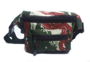 Pochete Camuflado Green/Red