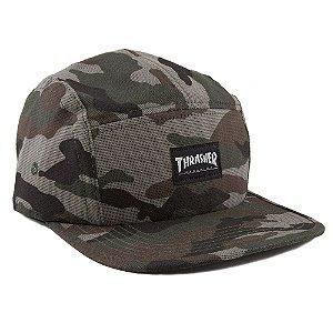 Boné 5 Panel Hat Thrasher Mag logo camuflado