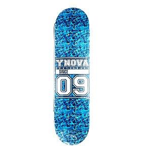 """SHAPE YNOVA SKATE BOARD SERIE 09 CAMU BLUE 8.0"""" + LIXA GRÁTIS"""