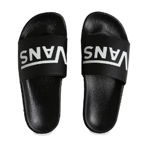 CHINELO SLIDE-ON VANS - BLACK